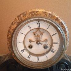 Relojes de carga manual: GRANDE Y ANTIGUO RELOJ DE SOBREMESA MÁRMOL. Lote 286054973