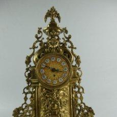 Orologi di carica manuale: MAGNIFICO RELOJ DE SOBREMESA DE CUERDA DE BRONCE EXCELENTE PIEZA DE DECORACIÓN. Lote 286769923