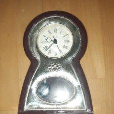 Horloges à remontage manuel: RELOJ SOBREMESA ITALIANO CON FRONTAL PLATA CONTRASTADA 925. VER DESCRIPCIÓN. Lote 287166913