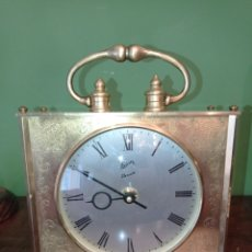 Horloges à remontage manuel: RELOJ DE SOBREMESA SCHATZ ELEXACTA, EN BRONCE. Lote 287175893