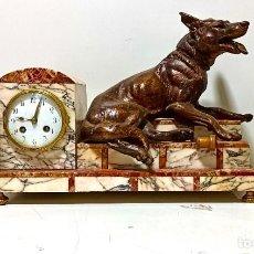Orologi di carica manuale: GRAN RELOJ DE MESA ART DECO EN MARMOL. FUNCIONANDO. PRINCIPIOS DE SIGLO. Lote 287488428