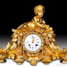 Relojes de carga manual: RELOJ BRONCE SIGLO XIX. Lote 253696400