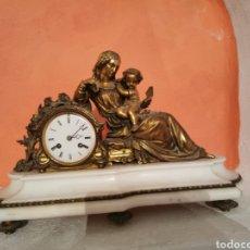 Relojes de carga manual: ESPECTACULAR REOJ DE BRONCE Y MARMOL. Lote 288964193