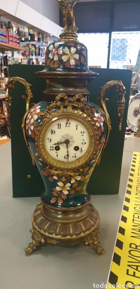 Relojes de carga manual: Impresionante Reloj Frances .Máquina Paris 54cm de altura - Foto 2 - 289469698