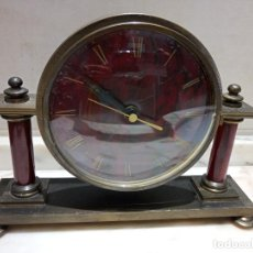 Relojes de carga manual: RELOJ DE SOBREMESA DE BRONCE WEST GERMANY. Lote 289490613