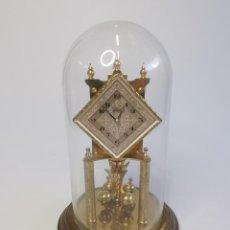 Relógios de carga manual: ANTIGUO RELOJ ALEMÁN CON PÉNDULO DE TORSIÓN KUNDO. CÚPULA DE CRISTAL.. Lote 294574008