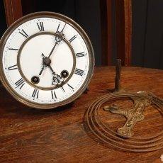 Relógios de carga manual: ANTIGUA MAQUINARIA Y ESFERA DE RELOJ CARGA MANUAL CARL WARNER ESFERA PORCELANA. Lote 294852193