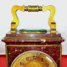 Relojes de carga manual: RELOJ DE SOBREMESA. MAQUINARIA AD. MOUGUIN. CON TERMÓMETRO Y BRÚJULA. FRANCIA. SIGLO XIX. Lote 296775418