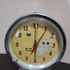 Relojes de carga manual: ANTIGUO RELOJ DESPERTADOR ELEFANTE CON OJOS EN MOVIMIENTO FUNCIONANDO U CON SONERIA. Lote 297069813