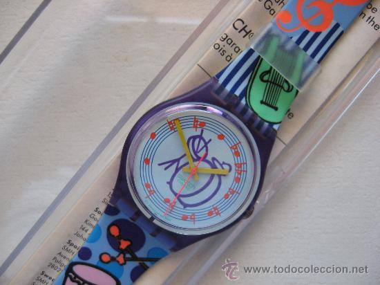 RELOJ SWATCH QUARTZ DE COLECCION , AÑOS 90. PERFECTO.MODELO TUBA (Relojes - Relojes Actuales - Swatch)