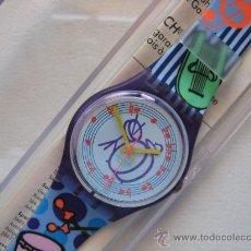 Relojes - Swatch: RELOJ SWATCH QUARTZ DE COLECCION , AÑOS 90. PERFECTO.MODELO TUBA. Lote 57084323
