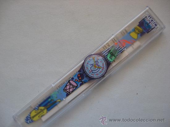 Relojes - Swatch: RELOJ SWATCH QUARTZ DE COLECCION , AÑOS 90. PERFECTO.MODELO TUBA - Foto 2 - 57084323