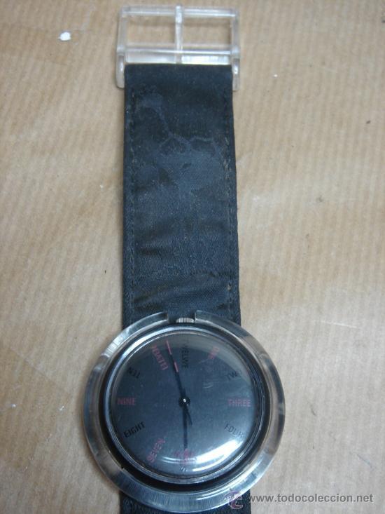 Relojes - Swatch: RELOJ DE PULSERA SWATCH - AÑOS 90s - FONDO NEGRO - Foto 5 - 25668612