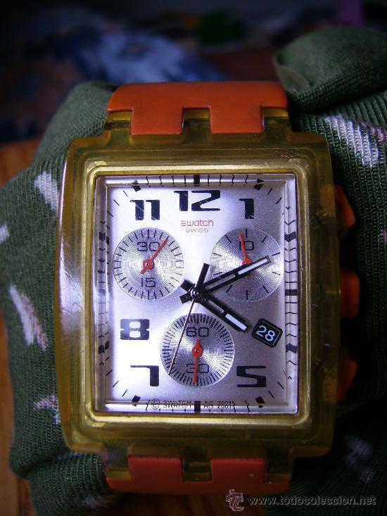 Relojes - Swatch: magnifico swatch año 2000 precioso funcionando perfectamente 4cmx3. unico coleccion - Foto 2 - 34403523