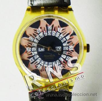 RELOJ SWATCH OUIJA -¿ EDICIÓN LIMITADA ?- DIFÍCIL CONSEGUIRLO - FUNCIONA - ESOTERISMO ESPÍRITUS UIJA (Relojes - Relojes Actuales - Swatch)