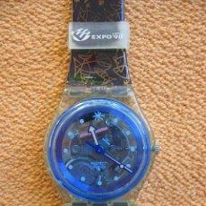 Relojes - Swatch: RELOJ DE COLECCIÓN. SWATCH ADAMASTOR. RELOJ DE ACCESO A LA EXPO 98 DE LISBOA.VER FOTOS Y DESCRIPCIÓN. Lote 40166298