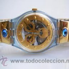 Relojes - Swatch: RELOJ SWATCH PARA COLECCION, MODELO GOLD SMILE, 1992. POCO USO.. Lote 41234473