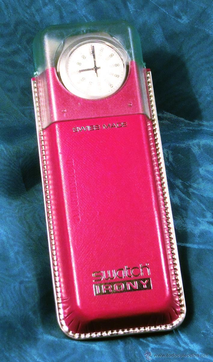 Relojes - Swatch: RELOJ SWATCH. MODELO IRONY. CAJA ROJA. ALUMINIUM. WATER RESISTANT. - Foto 2 - 41914154