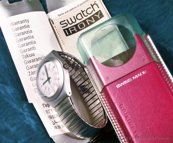 Relojes - Swatch: RELOJ SWATCH. MODELO IRONY. CAJA ROJA. ALUMINIUM. WATER RESISTANT. - Foto 4 - 41914154