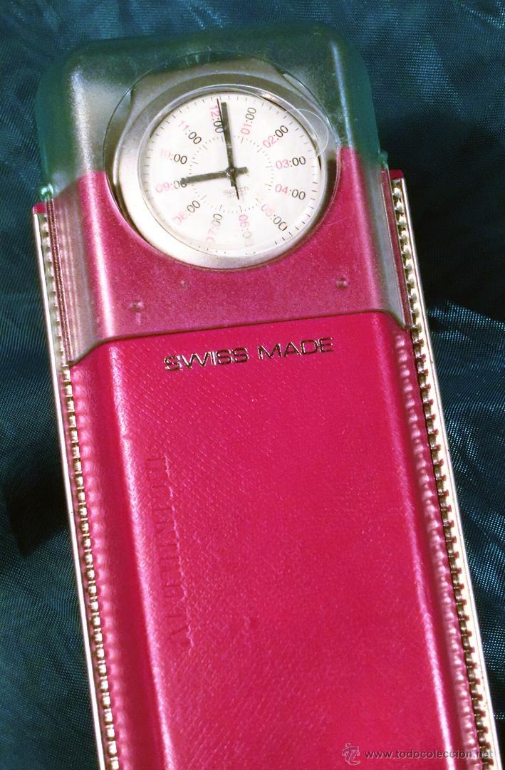 Relojes - Swatch: RELOJ SWATCH. MODELO IRONY. CAJA ROJA. ALUMINIUM. WATER RESISTANT. - Foto 5 - 41914154
