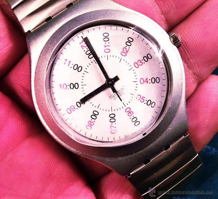 Relojes - Swatch: RELOJ SWATCH. MODELO IRONY. CAJA ROJA. ALUMINIUM. WATER RESISTANT. - Foto 6 - 41914154