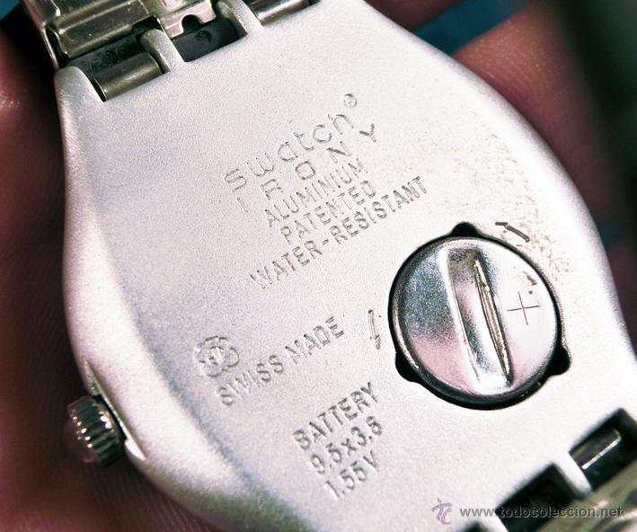 Relojes - Swatch: RELOJ SWATCH. MODELO IRONY. CAJA ROJA. ALUMINIUM. WATER RESISTANT. - Foto 8 - 41914154