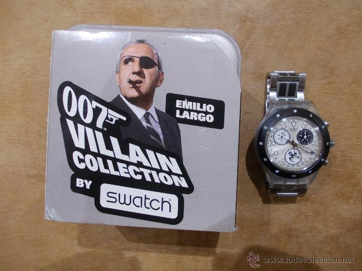 COLECCION 007 JAMES BOND-COLECCION VILLANOS-EMILIO LARGO-OPERACION TRUENO-IMPECABLE (Relojes - Relojes Actuales - Swatch)