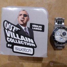 Relojes - Swatch: COLECCION 007 JAMES BOND-COLECCION VILLANOS-EMILIO LARGO-OPERACION TRUENO-IMPECABLE. Lote 47958174