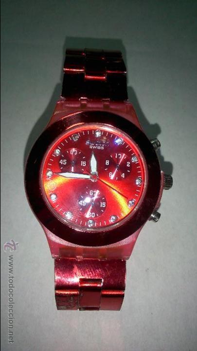 BONITO RELOJ SWATCH. COLOR ROJO (Relojes - Relojes Actuales - Swatch)