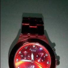 Relojes - Swatch: BONITO RELOJ SWATCH. COLOR ROJO. Lote 48544571