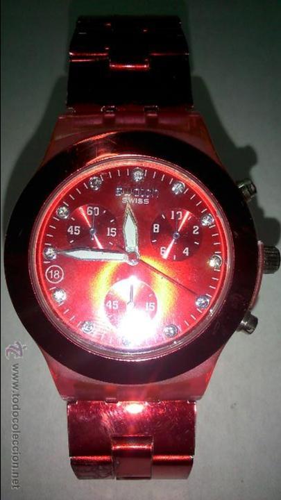 Relojes - Swatch: bonito reloj swatch. color rojo - Foto 2 - 48544571