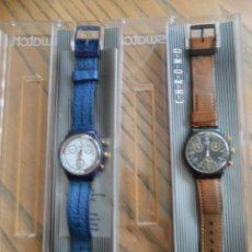 Relojes - Swatch: PAREJA DE PRMEROS CHRONOS DE SWATCH. AÑOS 90. Lote 51577434