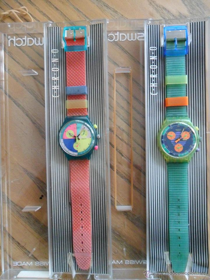 PAREJA DE PRIMEROS CHRONOS DE SWATCH. AÑOS 90. (Relojes - Relojes Actuales - Swatch)