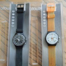 Relojes - Swatch: PAREJA DE CHRONOS SWATCH. PRIMERA SERIE. AÑOS 90.. Lote 51577590