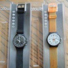 Montres - Swatch: DOS CHRONOS DE SWATCH DE LA PRIMERA SERIE. AÑOS 90. Lote 51577699