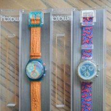 Montres - Swatch: PAREJA DE RELOJES SWATCH-CHRONO. AÑOS 90. Lote 51577936