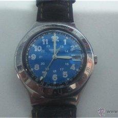 Relojes - Swatch: SWATCH BLUE JOE . CADENA CUERO. . Lote 53858323