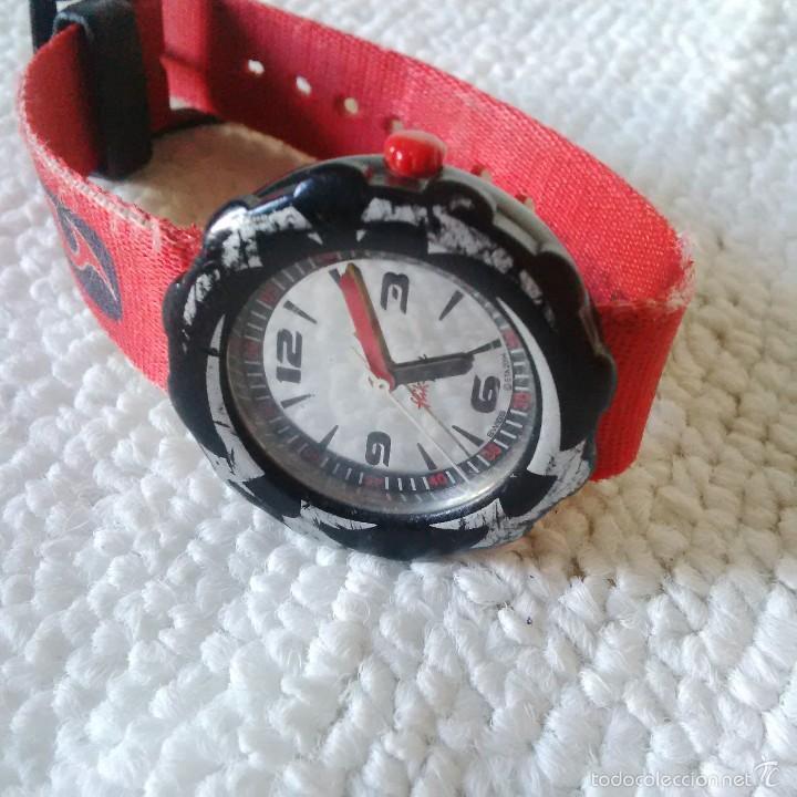 Relojes - Swatch: RELOJ FLIK-FLAK (SWATCH JUVENIL) ROJO - ESTUCHE ORIGINAL - Foto 5 - 56057199