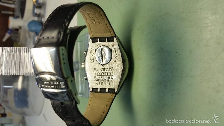 Relojes - Swatch: Reloj de señora Swatch cronometro en acero modelo grande medidas 35 mm de caja - Foto 2 - 130835336