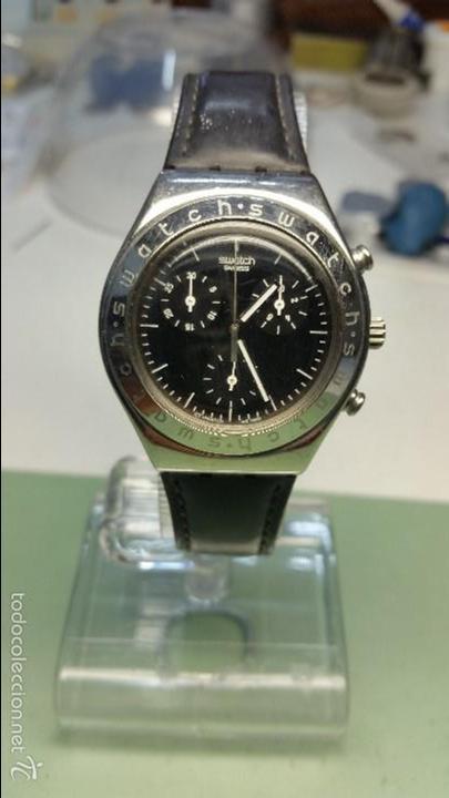 RELOJ DE SEÑORA SWATCH CRONOMETRO EN ACERO MODELO GRANDE MEDIDAS 35 MM DE CAJA (Relojes - Relojes Actuales - Swatch)