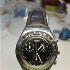 Relojes - Swatch: RELOJ DE SEÑORA SWATCH CRONOMETRO EN ACERO MODELO GRANDE MEDIDAS 35 MM DE CAJA . Lote 130835336