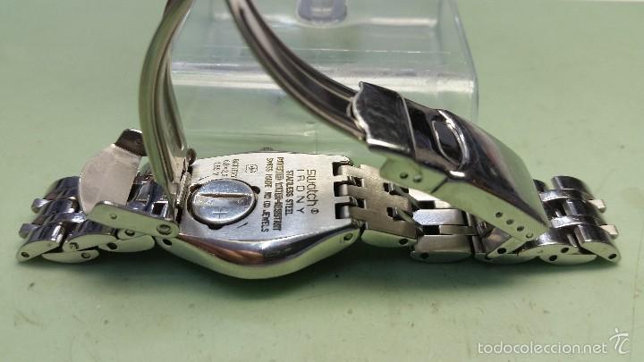 Relojes - Swatch: Reloj de señora Swatch en acero con correa en acero modelo IRONI medidas 25 mm de caja - Foto 2 - 56273074