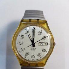 Relojes - Swatch: RELOJ DE CABALLERO (VINTAGE) DE CUARZO SWATCH CON CORREA DE ACERO ORIGINAL MUY RAROS Y DIFÍCIL . Lote 57817926