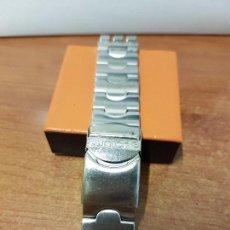 Relojes - Swatch: CORREA DE CABALLERO PARA RELOJ SWATCH DE ACERO SOLIDA EN MUY BUEN ESTADO.. Lote 64718263