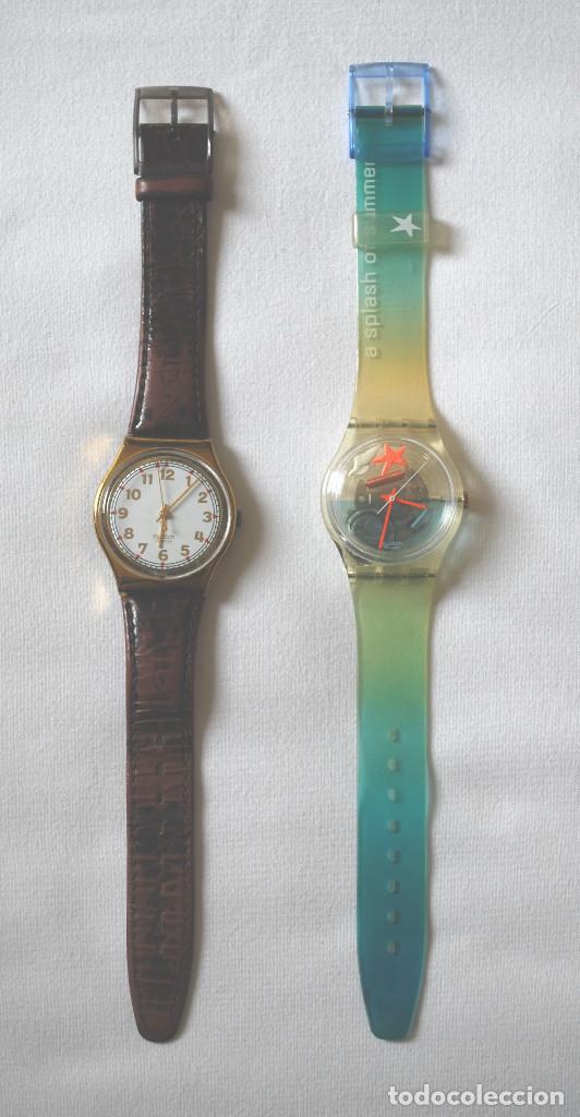 LOTE DE 2 RELOJES SWATCH VINTAGE DE SEÑORA PARA COLECCIÓN (VER FOTOS ADICIONALES) (Relojes - Relojes Actuales - Swatch)