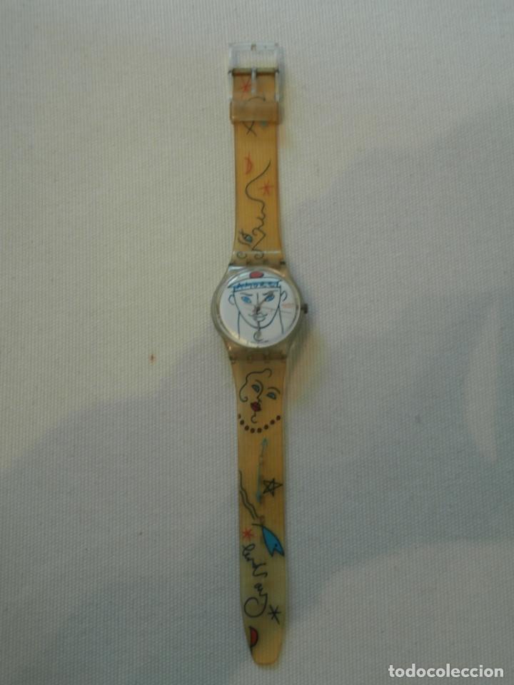 RELOJ SWATCH MARINERO FRANCES AMORE DISEÑO LINDSAY KEMP 1990 (Relojes - Relojes Actuales - Swatch)
