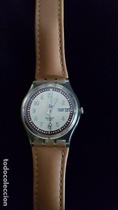 Relojes - Swatch: Reloj Swatch croissant chaud GE700. Año 2003 - Foto 3 - 81083676