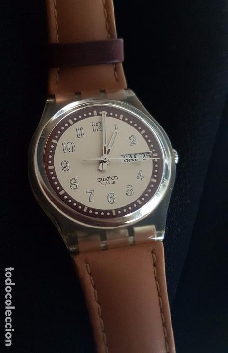 Relojes - Swatch: Reloj Swatch croissant chaud GE700. Año 2003 - Foto 4 - 81083676