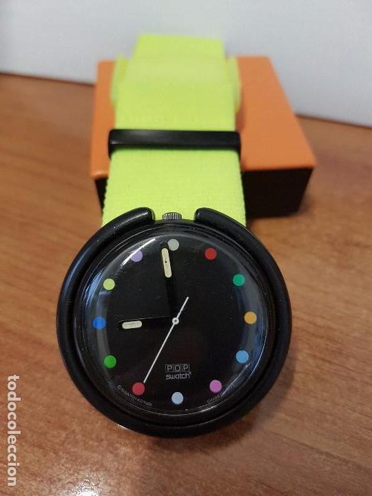 Correa Sin Con Unisex RelojvintageSwatch EstirarCristal Pop Tela RayasFuncionando De Nueva IYgf6vmb7y