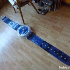 Relojes - Swatch: GENIAL RELOJ SWATCH 1997 MAXI GIGANTE MÁS DE 2 MTS DE PARED FUNCIONANDO VINTAGE COLECCIÓN LUCKY CLUB. Lote 84444892